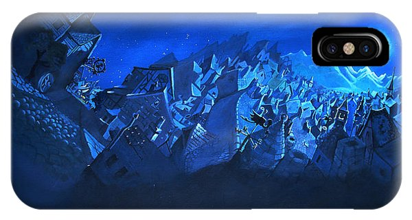 Blue Village IPhone Case