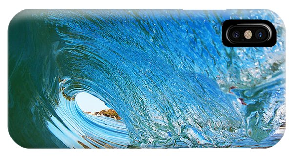 Blue Wave Curl IPhone Case