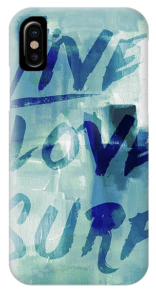 Surf iPhone Case - Blue Waves II by Lanie Loreth