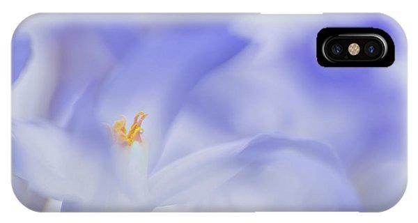 Soft iPhone Case - Blue Waves by Roelof De Hoog