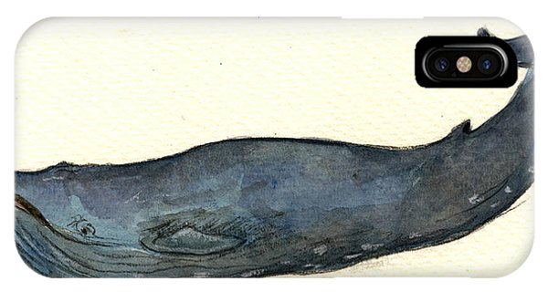 Whale iPhone Case - Blue Whale by Juan  Bosco