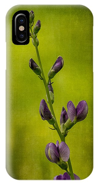 Blue Wild Indigo With Textures IPhone Case