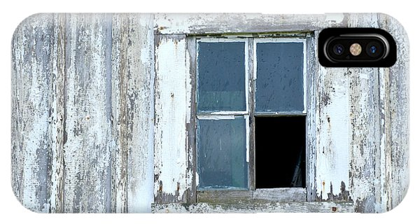 Blue Window In Weathered Wall IPhone Case
