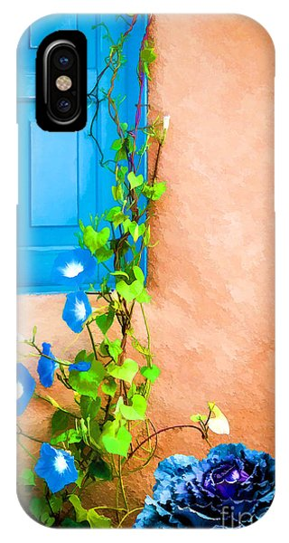 Blue Window - Painted IPhone Case