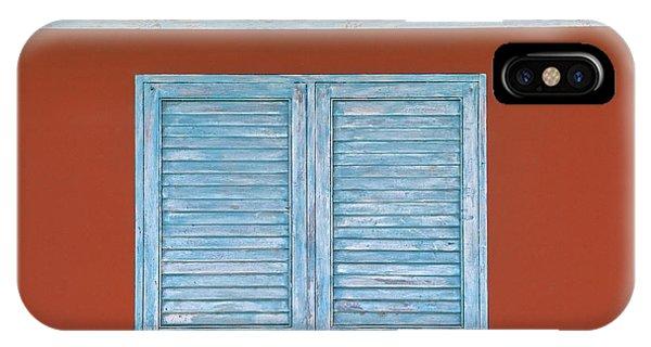 Blue Window Shutter Of Aruba IPhone Case