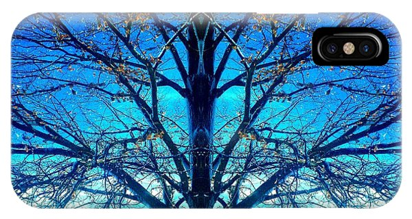 Blue Winter Tree IPhone Case