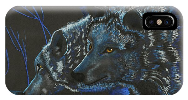 Blue Wolves IPhone Case