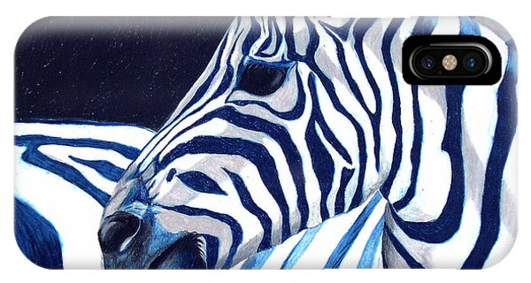 Blue Zebra IPhone Case