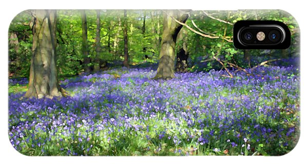 iPhone Case - Bluebell Wood by Anthony Forster