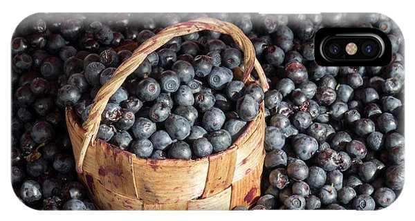 Small Business iPhone Case - Blueberries At Market For Sale by Panoramic Images