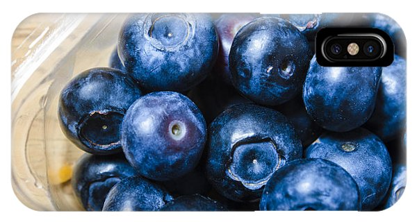 Blue Berry iPhone Case - Blueberries Punnet by Jorgo Photography - Wall Art Gallery