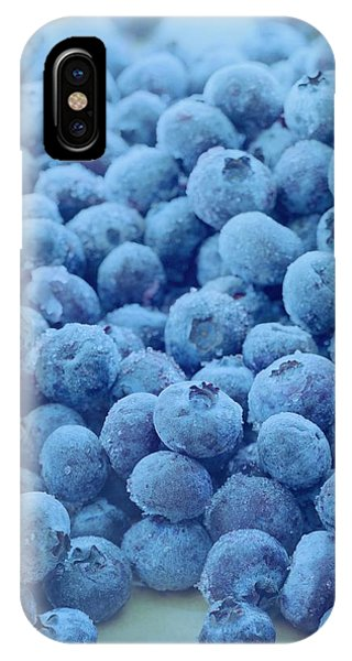 Blue Berry iPhone Case - Blueberries by Romulo Yanes