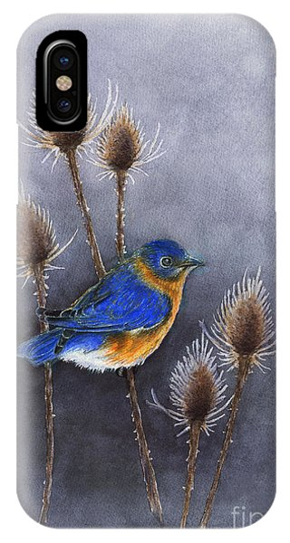 Bluebird Among The Thistles IPhone Case