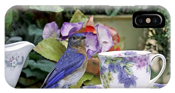 Bluebird And Tea Cups IPhone Case