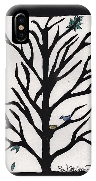 Bluebird In A Pear Tree IPhone Case