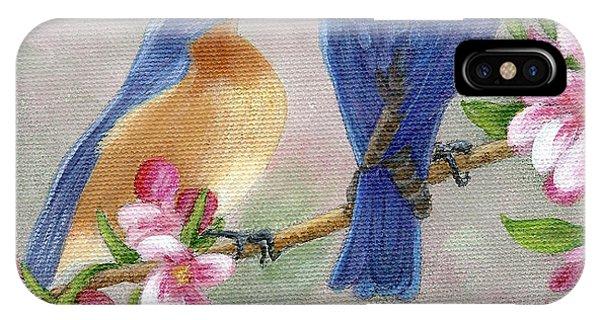 Bluebird Love IPhone Case