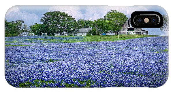 Bluebonnet Farm IPhone Case