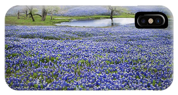 Bluebonnet Pond IPhone Case