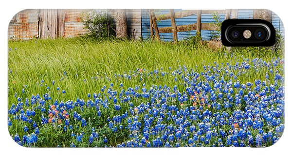 Bluebonnets Swaying Gently In The Wind - Brenham Texas IPhone Case