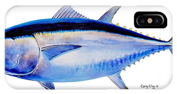 Reel iPhone Case - Bluefin Tuna by Carey Chen