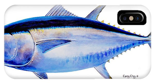 Bahamas iPhone Case - Bluefin Tuna by Carey Chen
