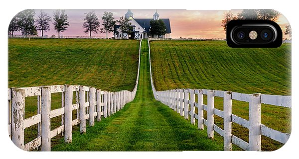 White Horse iPhone Case - Bluegrass Farm by Anthony Heflin