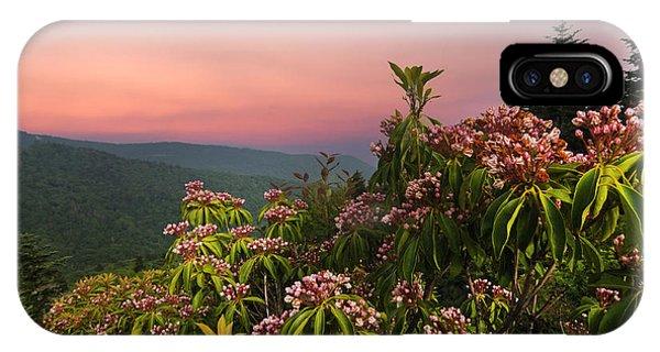 Blueridge Parkway Mountain Laurel IPhone Case