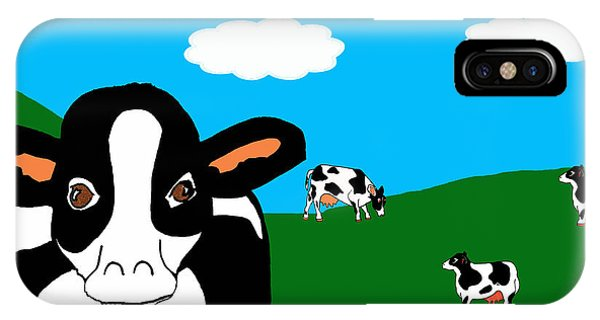Bluesky Cows IPhone Case
