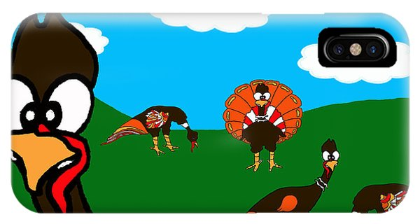 Blueskyfarm Turkeys IPhone Case