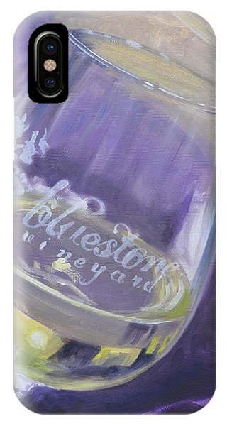 Bluestone Vineyard Wineglass IPhone Case