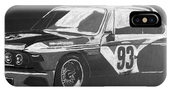 Bmw 3.0 Csl Alexander Calder Art Car IPhone Case