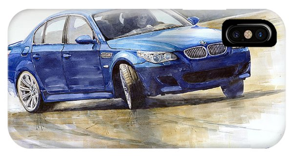 Paper iPhone Case - Bmw M5 2006 01 by Yuriy Shevchuk