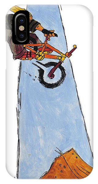 Bmx Drawing IPhone Case