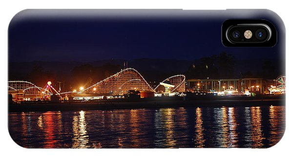 Santa Cruz Boardwalk At Night IPhone Case