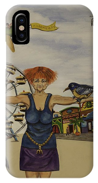 Boardwalk Birdwoman IPhone Case
