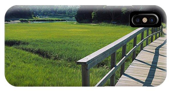 Boardwalk In A Field, Nauset Marsh IPhone Case