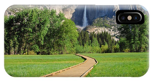 Boardwalk To Yosemite Falls  IPhone Case