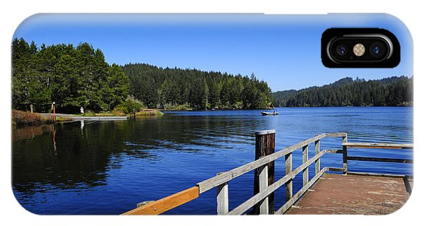 IPhone Case featuring the photograph Boat Dock by Don and Bonnie Fink