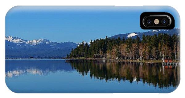 Boat House Lake Tahoe IPhone Case