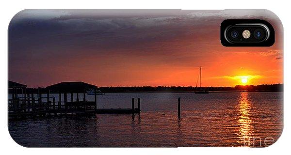 Boat House Sunset  IPhone Case