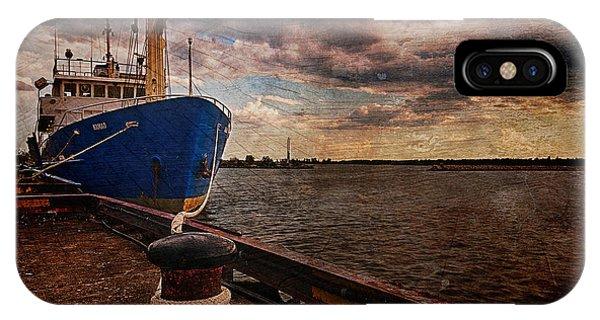 Boat In Marina IPhone Case