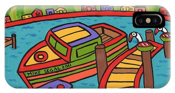 Boat In The Bayou - Cedar Key IPhone Case
