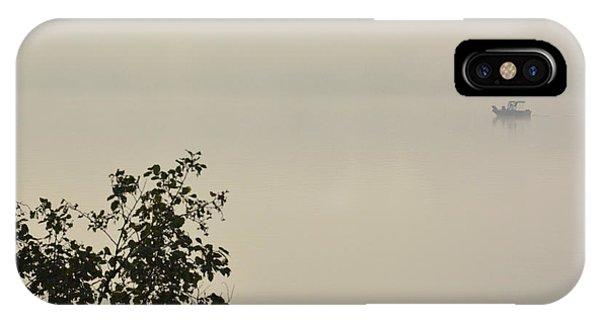 Sherri iPhone Case - Boat In The Fog by Sherri Abell