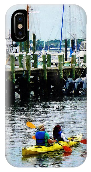 Boat - Kayaking In Newport Ri IPhone Case