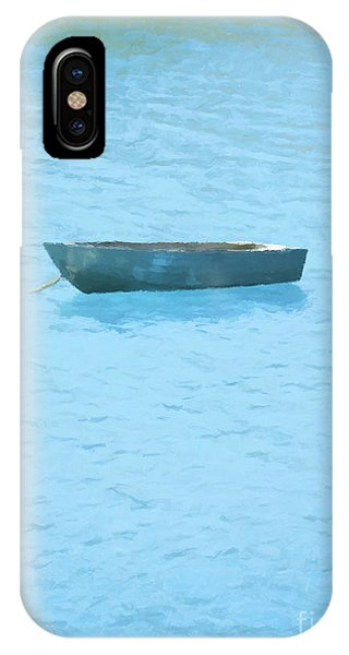 Water iPhone Case - Boat On Blue Lake by Pixel Chimp