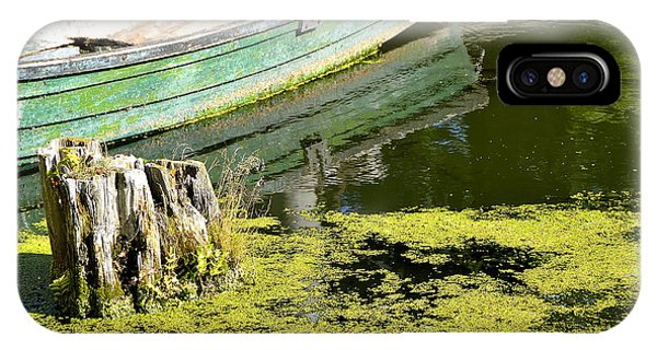 Boat On The Banks Of The River IPhone Case