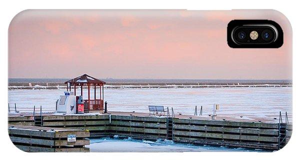 Boat Pier Lake Michigan IPhone Case
