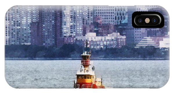 Boat - Tugboat By Manhattan Skyline IPhone Case
