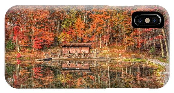 Boathouse At Boley Lake IPhone Case