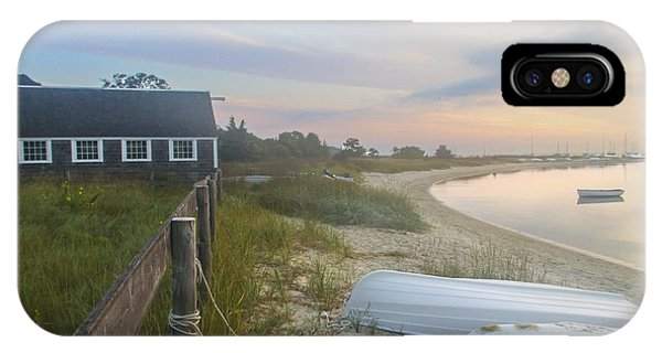 Boathouse At Dawn IPhone Case